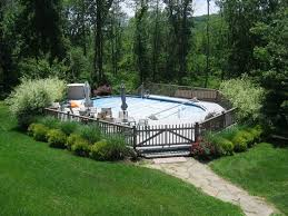 Landscaping Around A Pool best 25 above ground pool decks ideas on pinterest swimming