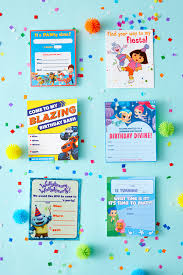 nick jr printable birthday party invitations nickelodeon parents