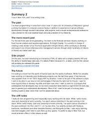 Example Of Summary For Resume Free Persuasive Essay On Gun Control Custom Written Essays Writing