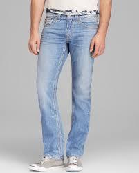 light blue true religion jeans lyst true religion jeans rick big qt straight fit in light wash in