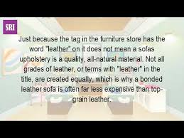 Grades Of Leather For Sofas What Is Top Grain Leather Sofa Youtube