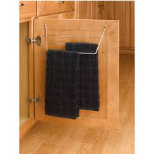 kitchen cabinet towel rail towel organizers pull out and door mounted towel racks from rev