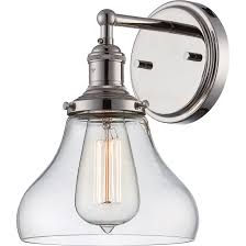 One Light Wall Sconce Nuvo 60 5413 1 Light Wall Sconce And Vintage Light Bulb
