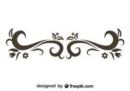 stylish retro swirl design vector free
