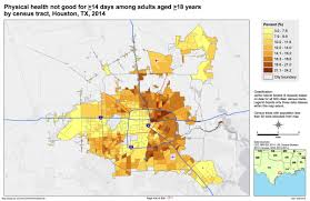 Houston City Limits Map Health Inequalities Are Strongly Reflected In Houston U0027s