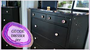 Contact Paper Desk Makeover Easy Geode Dresser Diy Makeover Youtube