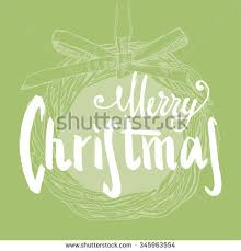 beautiful set cards lettering wishes stock vector