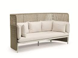 canapé dossier haut esedra canapé de jardin avec dossier haut by ethimo design luca