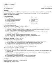 marketing resume templates marketing resume exles marketing sle resumes livecareer