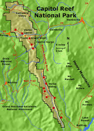 capitol reef national park map geology of national parks