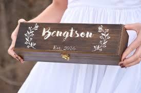personalized wine box wine ceremony keepsake time capsule
