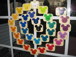 countdown to disney using paint color samples good ideas