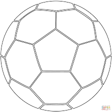 soccer ball coloring page good 1375
