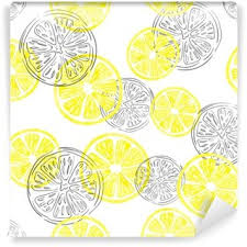 seamless lemon pattern seamless pattern fruit lemon vector wall mural pixers we live
