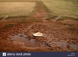 Home Plate Baseball by Home Plate On A Muddy Baseball Field Stock Photo Royalty Free