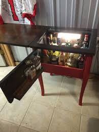 Cheap Sewing Cabinets This Is An Old Sewing Table Turned Into A Vanity For Doing Hair