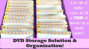 dvd storage solution u0026 organization 260 dvd u0027s stored in only 12