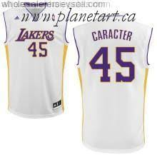 nba jerseys cheap los angeles lakers derrick caracter white nba