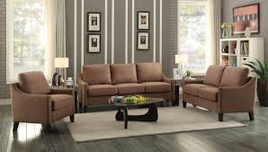 Acme Living Room Furniture by Zapata Brown Linen Sofa
