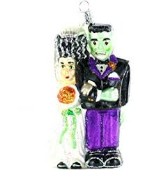 world frankenstein glass blown ornament