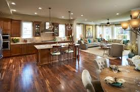 Open Living Room And Kitchen Home Design - Living room and kitchen design