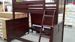 Single Bunk Bed With Desk Furniture Bunk Bed With Desk On Bottom Costco Bunk Beds White