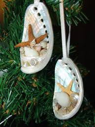 coastal inspired white or green abalone shell ornaments