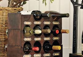 storage stunning corner wine racks in black color finish with