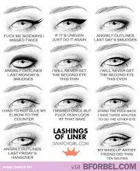 Eyeliner Meme - my thoughts when i put on eyeliner b for bel
