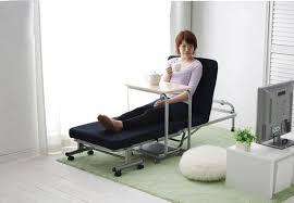 foldable platform bed japanese modern lazy metal folding bed with mattress bedroom