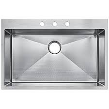 Kitchen Sink Top Starstar 33 X 22 Top Mount Single Bowl Kitchen Sink Drop In 304