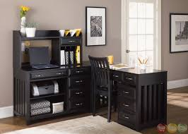 hampton bay black finish l shaped home office desk home office