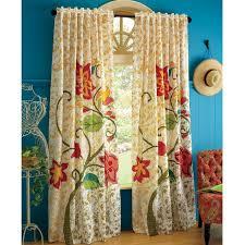 Retro Floral Curtains Impressive Design Ideas Pier One Imports Curtains Floral Blue