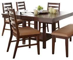 steve silver eden dining table with 18 inch lazy susan in dark