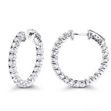 inside out diamond hoop earrings out classic diamond hoop earrings 2 75ct 14k gold