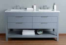stufurhome rochester 60 inches grey double sink bathroom vanity