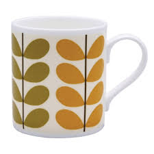 my orla kiely coffee mug i got at goodwill for 49 cents home