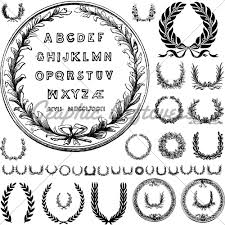 11 letters vector vintage ornaments images alphabet