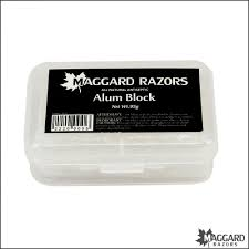 alum photo maggard razors alum block with plastic travel 95g maggard