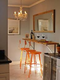 Narrow Kitchen Bar Table This Narrow Kitchen Just Barely Has Room For A Wall Hung Breakfast