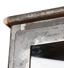 weathered raw steel medical cabinet w cast iron legs rejuvenation