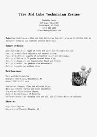 Central Service Technician Resume Sample by Tire And Lube Technician Cover Letter