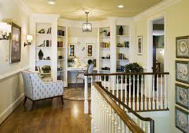 Wooden Shelf Gallery Rails by Landing Design Ideas Staircase Traditional With Chair Rail Built