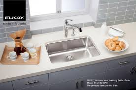 Awesome Kitchen Sinks by Kitchen Stainless Single Elkay Sinks With Grey Tile Backsplash