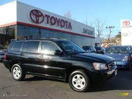 cars toyota black 2002 black toyota highlander 4wd 5968281 gtcarlot com car