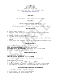 Radiologic Technologist Sample Resume by Cv Sample Medical Technologist