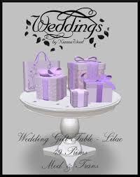 Wedding Gift Table Ideas Second Life Marketplace Wedding Gift Table Lilac