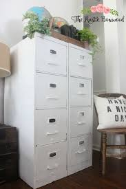 painting metal file cabinets metal file cabinet makeover the rustic boxwood country living