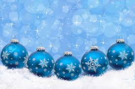 turquoise blue ornaments with snowflakes and snow with