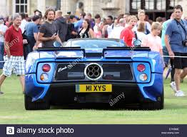 blue pagani zonda a 2003 pagani zonda c12 s in electric blue draws attention at a